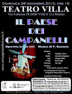 IL PAESE DEI CAMPANELLI – Milano, 28/11/2010