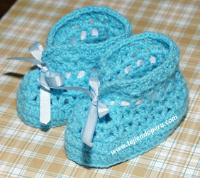 Cómo tejer zapatitos calados a crochet