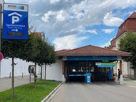 Frei Parken in Füssen in der Tiefgarage der Sparkasse