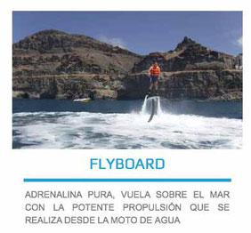 flyboard en las palmas