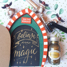 paper break lettrage creatif hand lettering encre herbin or believe in magic