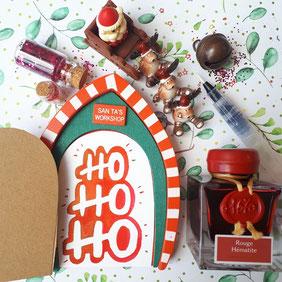 paper break lettrage creatif hand lettering encre rouge hématite jacques herbin hohoho