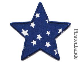 Bild: Hosenflicken zum aufbügeln Flicken Sternchen dunkelblau
