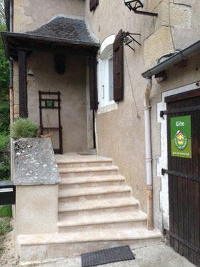 L'entrée du gîte de Montredon