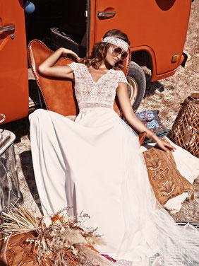 Robe de mariée Emotion fluide Fabienne Alagama région parisienne