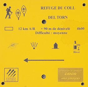 Indicador inici circuit 14 - Refugi del Coll del Torn