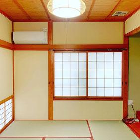 和室の聚楽壁塗り替えた後、畳入れ替えた後の写真です。