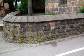 dudweiler, alter turm, historische friedhofsmauer