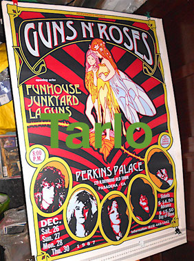 GNR print poster in matted paper large or medium size