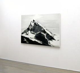 Matthieu van Riel. Schilderij. Dent Blanche Switzerland 75x105cm olie op linnen 2010