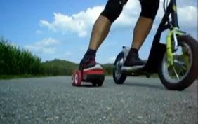 Wer Tretrollern kann . . . kann das max-easy Scooter-Skaten binnen MINUTEN erlernen !