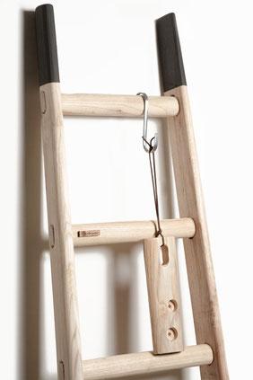 Scala in legno artigianale - Wood ladder for home creative decor
