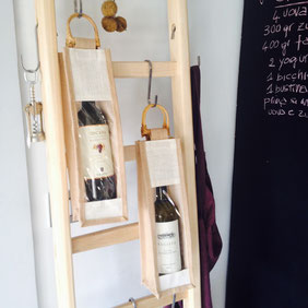 Accessori per scala a pioli, wood ladder wine details