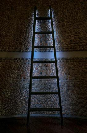 Scala a pioli con illuminazione a led - Wood ladder led light system - echelle led deco