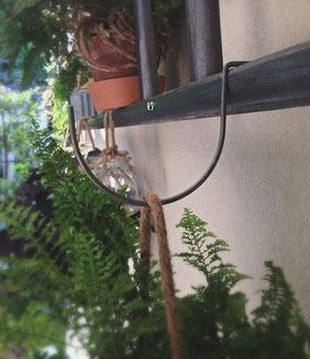 ganci artigianali per scale a pioli, handcrafted hooks for wood ladders