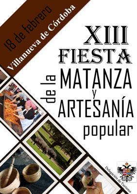 Programa de la Fiesta de la Matanza y Artesanía Popular en Villanueva de Códoba