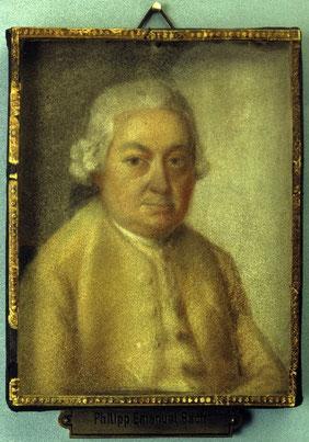 Lips, C. P. E. Bach, Pastell, Berlin, Staatliche Museen