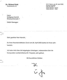 Bundeskanzler Helmut Kohl | Folie d'Espagne