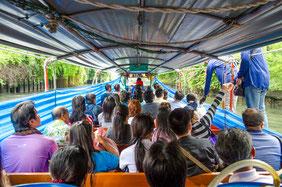 Khlong-Boot von innen