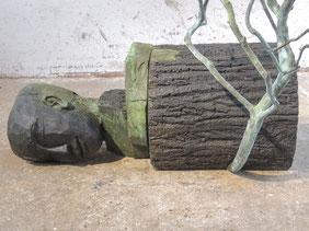 Der Schlot, 2017, Bronze, Höhe 126cm, Unikat