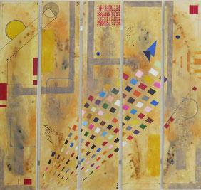 comètes - daluz galego tableau abstrait abstraction