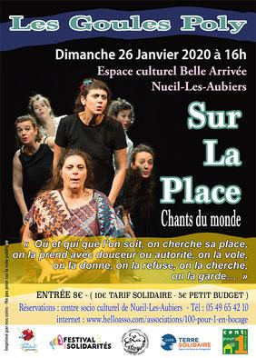 Les Goules Poly, Sur La Place, Compagnie Parolata Sung, Concert, Vienne 86, Deux-Sèvres 79, Nouvelle-Aquitaine