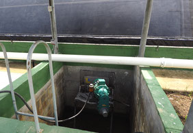 Covered lagoon digester - mixer - agitator - biogas - agitador biodigestor