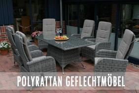 Polyrattan Kunststoffgeflecht Destiny Collection Polster Hochlehner Gartentisch Destiny Collection