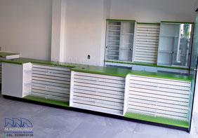 Muebles de caja, mostradores para negocio, muebles para cobro