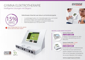 Herbstaktion 2014 - Gymna Elektrotherapie - 15 % Rabatt