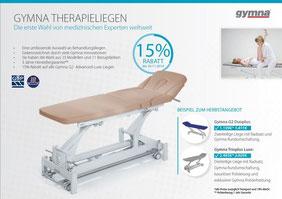 Herbstaktion 2014 - Gymna Therapieliegen - 15 % Rabatt