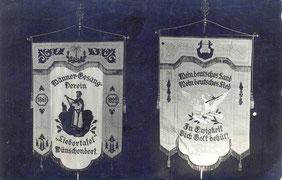 Bild: Teichler Wünschendorf Erzgebirge Männergesangsverein Fahne