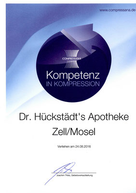 DrHUeckstaedtsApotheke Zell Mosel Kompetenz Kompression