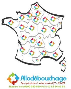 Zone d'intervention Allo Débouchage France