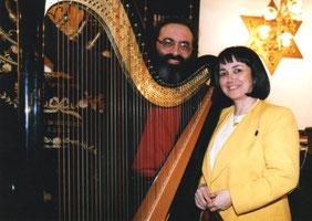 Shimon REUBEN & Nehama REUBEN. DUO REUBEN.  Concert Synagogue Vincennes Mars 1994