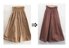 ▲綿100% スカート シミ
