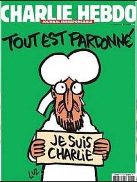 """""""Charlie Hebdo""""-Titelblatt der ersten Ausgabe nach den Anschlägen vom 7. 1. 2014"""