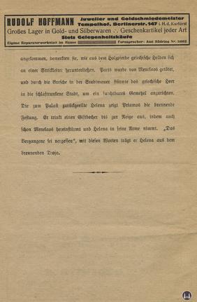 Das Tempelhofer Tivoli an der Friedrich - Karl - Straße. Kinoprogramm Seite 6.