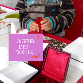 motricité montessori panier boîtes