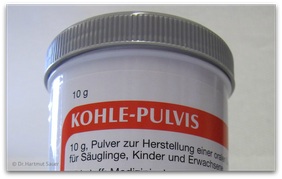 Erneute Einnahme von Aktivkohle nach der Amalgamentfernung (© Dr. Hartmut Sauer