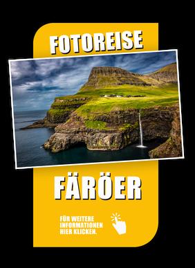 Link für die Fotoreise Landschaftsfotografie auf den Färöer-Inseln