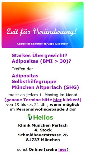 Adipositas Selbsthilfegruppe (SHG) München Altperlach