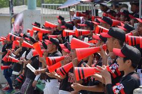 1、2年生も熊本から応援に駆けつけた