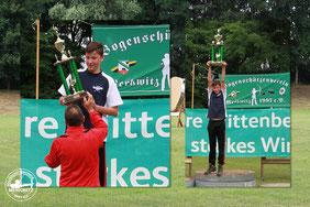 Den Heide-Wanderpokal 2017 gewann dieses Jahr: Jonas Gericke vom BSC Dessau mit 98,67 % vom Deutschen Rekord in seiner Aters- und Bogenklasse.