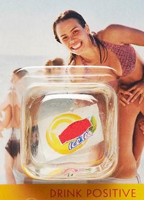 Blister-Pack mit einem Logo-Eiswürfel von Kolb Imex