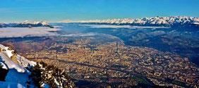 Isère,  Grenoble, Grésivaudan, St Ismier, Bernin