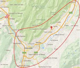 Grenoble, Meylan, Montbonnot, Saint-nazaire-les-eymes, St-Ismier, Crolles Bernin, Le Touvet