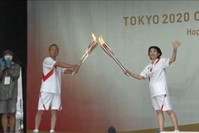 YouTube「東京2020オリンピック聖火リレー 千葉県2日目」より