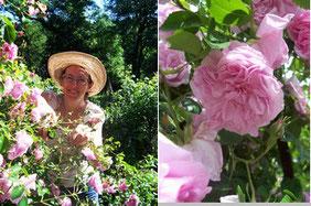La teinturière et ses roses