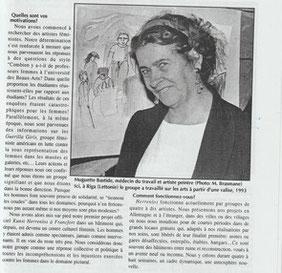 Muguette Bastide, participant aux activités d'Herrenlos